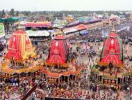 Puri Rath Yatra Draws Huge Crowd