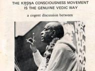 The Krishna Consciousness Movement Is the Genuine Vedic Way