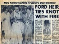 Hare Krishna Wedding 1984