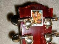 Eric Clapton's Guitar with Hare Krishna Stamp