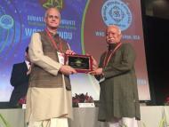 Anuttama speaking at the World Hindu Congress