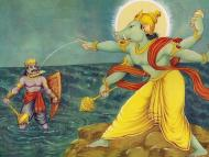The Battle Between Boar and Hiranyaksha